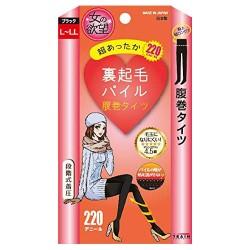 [스타킹]여자의 욕망 보풀이 잘 생기지 않는 복대 기모 타이즈 220D (M-L/블랙)