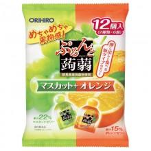 [오리히로] 오리히로 곤약젤리 오렌지&청포도 12개입