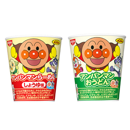 [NISSIN] 호빵맨 어린이 컵라면 x 컵우동 2종세트