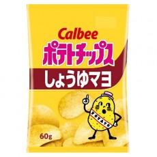 Calbee 감자칩 쇼유마요 간장마요 60g