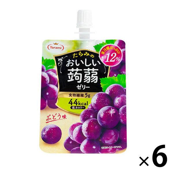 たらみ 맛있는 곤약 젤리 포도 맛 150g 1 세트 (6 개입)
