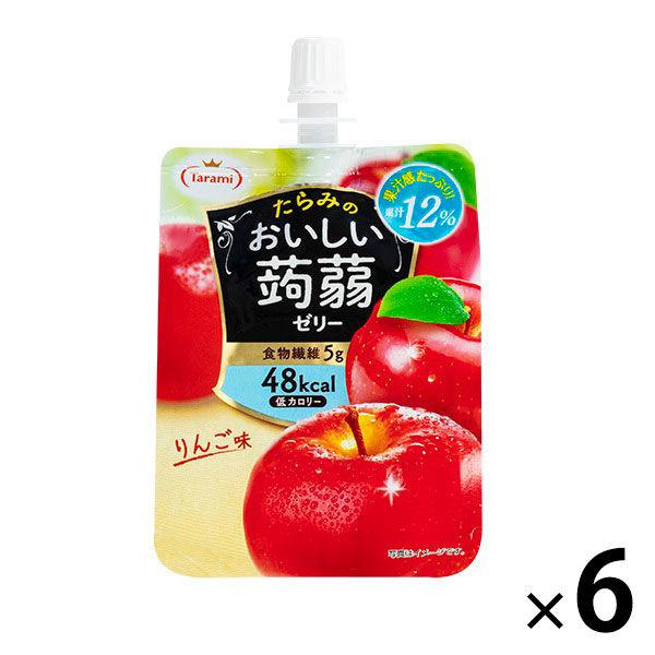たらみ 맛있는 곤약 젤리 사과 맛 150g 1 세트 (6 개입)