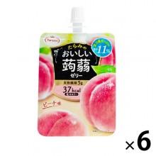 たらみ 맛있는 곤약 젤리 복숭아 맛 150g 1 세트 (6 개입)