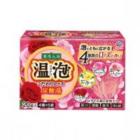 EARTH 온포 입욕제 탄산탕 로즈 향기 4종 x 5개