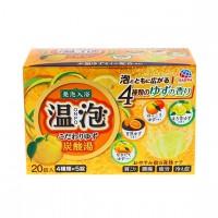 EARTH 온포 입욕제 탄산탕 유자 향기 4종 x 5개